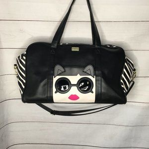 Betsey Johnson Cat w/ Sunglasses Black Weekender